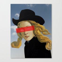 Das Mädchen mit dem Hut Canvas Print