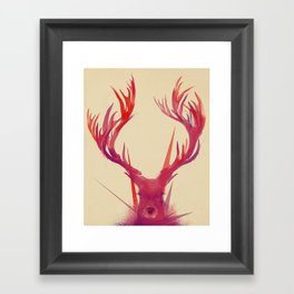 Points Framed Art Print
