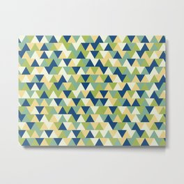 Rockpool Triangles Metal Print