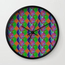 Ovoid Tropic Bunch Wall Clock