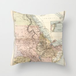 The Nile River Valley Map (1910) Throw Pillow