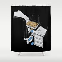 gangster Shower Curtains featuring Cookie Gangster by Piopio