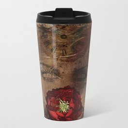 Lady with the red rose Metal Travel Mug