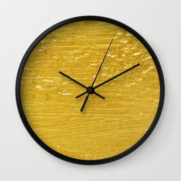 Solid Gold Paint Texture Wall Clock