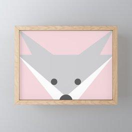 Peek-a-Boo Fox, Soft Pink Framed Mini Art Print