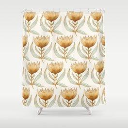 Bohemian Sunflower Pattern Shower Curtain