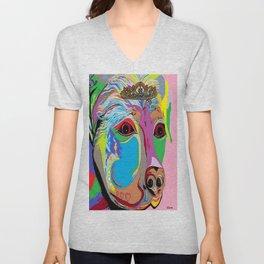 Lady Rottweiler Unisex V-Neck