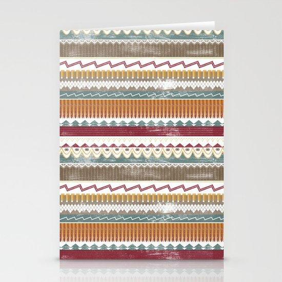 AZTEC STRIPES Stationery Cards