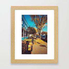 Alexandria VII Blue and Yellow Framed Art Print