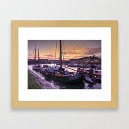 Bristol Harbour Sunset Framed Art Print