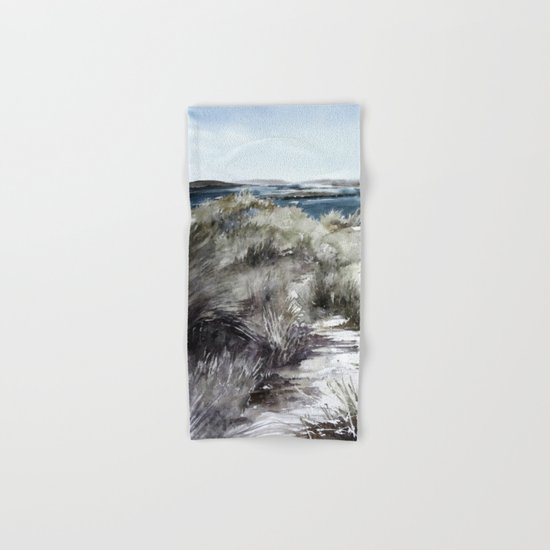 Cold seashore grass Hand & Bath Towel