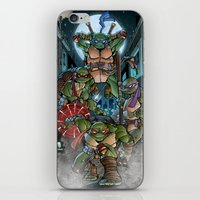 teenage mutant ninja turtles iPhone & iPod Skins featuring Ninja Time! by Mercenary Art Studio