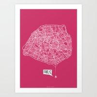 Spidermaps #1 Light Art Print