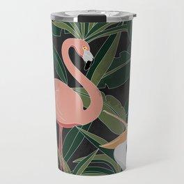 Flamingo and Pelican Travel Mug