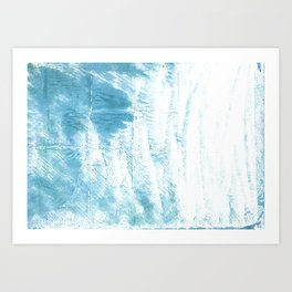 Dark sky blue abstract watercolor Art Print