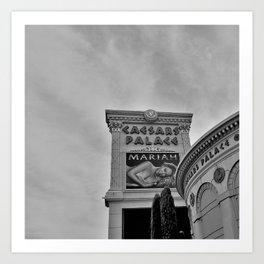 Caesars Palace ,Las Vegas, Sign Art Print