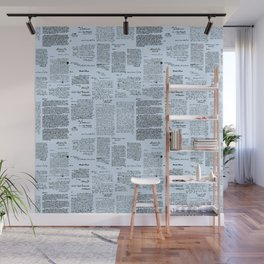 George Washington's Letters // Blue Wall Mural