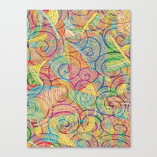 Colorful pattern (a little geometry) Canvas Print