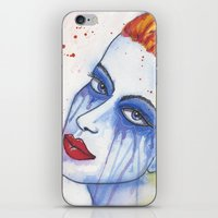 emily rickard iPhone & iPod Skins featuring Emily by claudia beldent