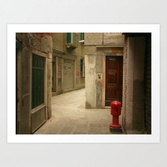 Venetian Back Alley Art Print