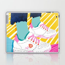 Butter - throwback 80s style vibes shoes fashion sneakers 1980's trend memphis art Laptop & iPad Skin