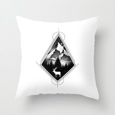 NORTHERN MOUNTAINS IV Throw Pillow