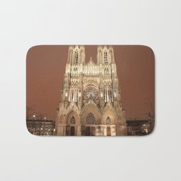 Winter At The Reims Cathedral Bath Mat