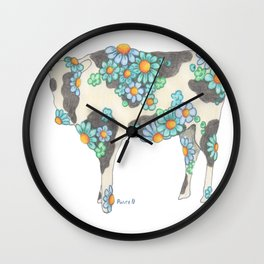 Skim Milk Cow (The skinnier version of my Chocolate Milk Cow Wall Clock