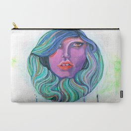 Pretty Oceanic Ombre Face Carry-All Pouch