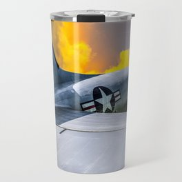 Into the Wild Blue Yonder Plane Print Travel Mug