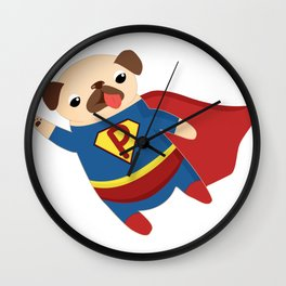 Super Pug Wall Clock