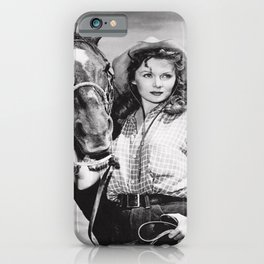 Lash LaRue gives David Letterman poster iPhone Case