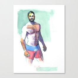 DAVID, Semi-Nude Male by Frank-Joseph Canvas Print