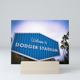 Welcome to Dodger Stadium | Los Angeles California Nostalgic Iconic Sign Sunset Art Print Tapestry Mini Art Print