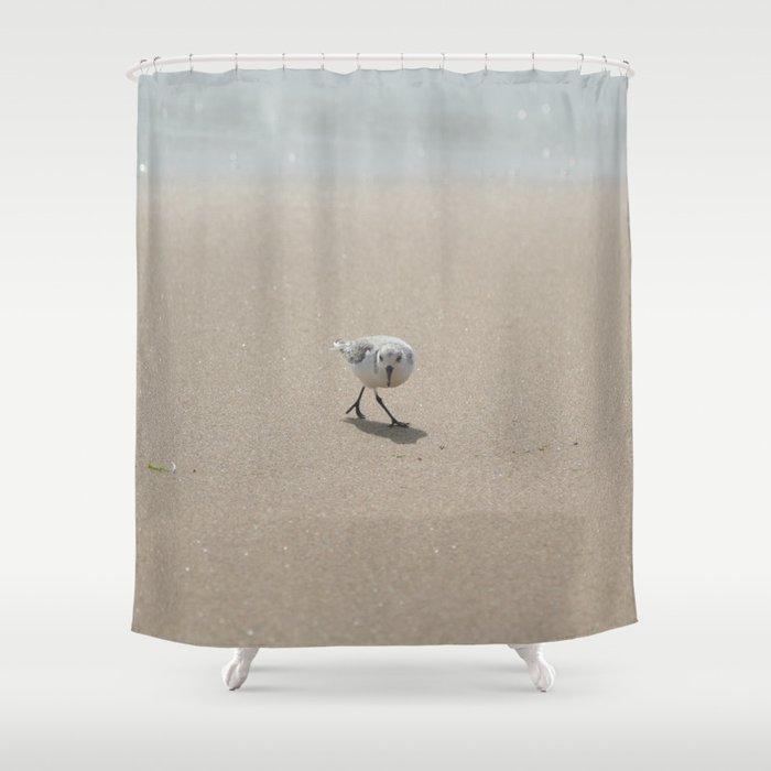 Sandpiper Bird Shower Curtain By Annaki