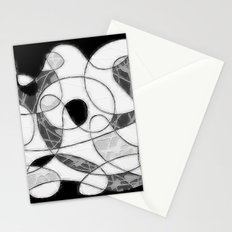 maze black and white Stationery Cards