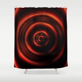 Red Shockwave Shower Curtain