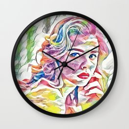 Chloë Grace Moretz (Creative Illustration Art) Wall Clock