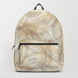 Metallic Line Art Pattern Backpack