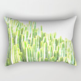 Cactus summer watercolor Rectangular Pillow