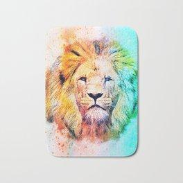 Rainbow lion Bath Mat