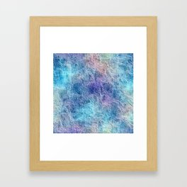 Colorful Cool Tones Blue Purple Abstract Framed Art Print