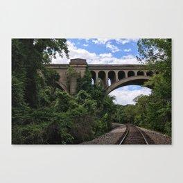 Richmond / Tracks Beneath Bridge Canvas Print