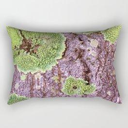 Tree Bark Pattern with Lichen #7 Rectangular Pillow