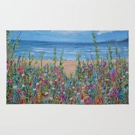Summer Beach, Impressionism Seascape Rug