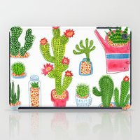 cactus iPad Cases featuring Cactus by Hui_Yuan-Chang