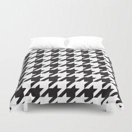 Houndstooth (Black and White) Duvet Cover
