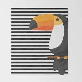 TOUCAN tropical toucans Throw Blanket