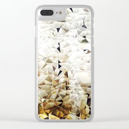 Golden Sand Clear iPhone Case