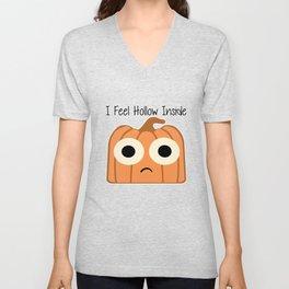 I Feel Hollow Inside Unisex V-Neck